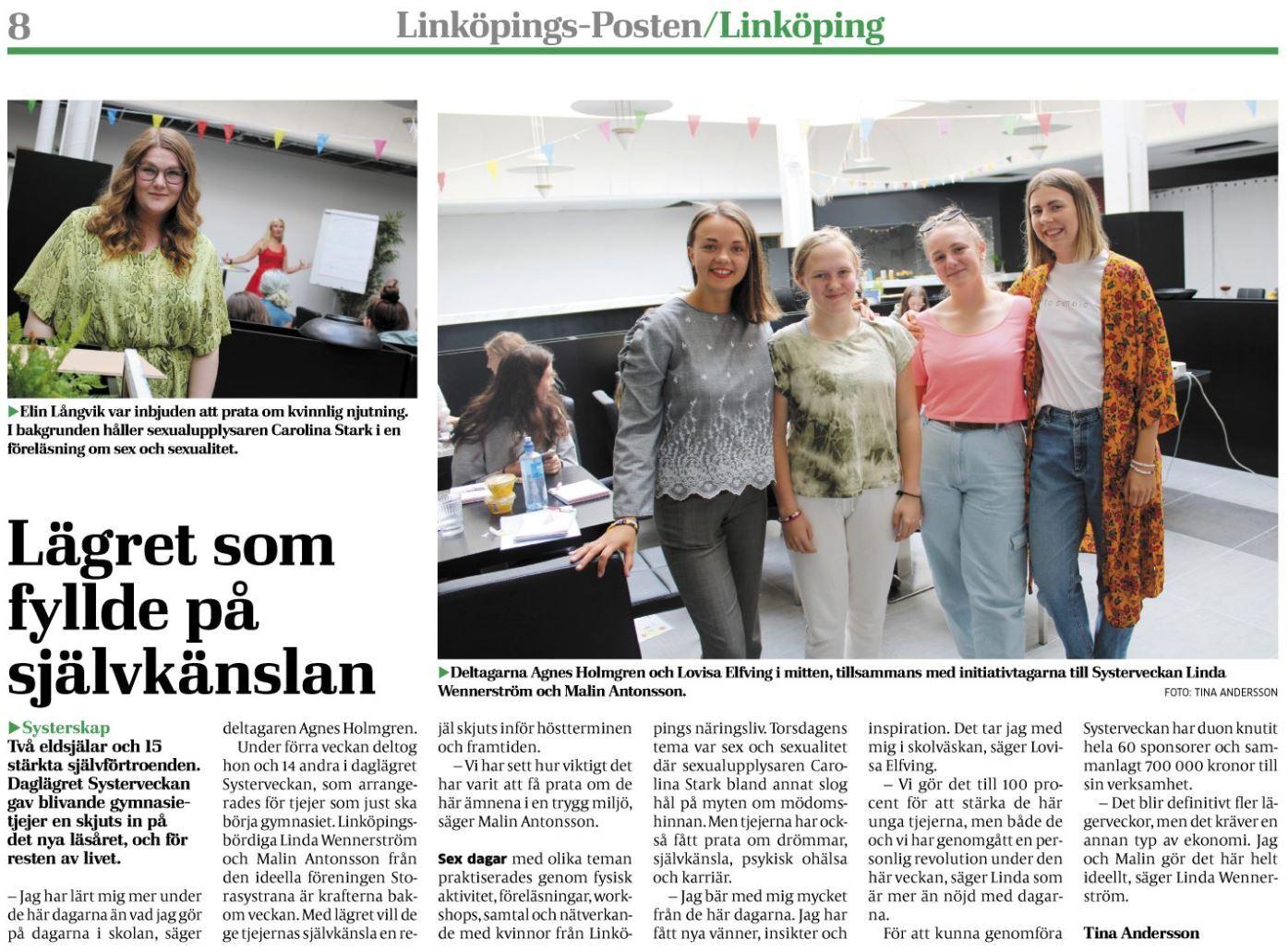 Linköpings Posten besöker Storasystrarna under Systerveckan 2019